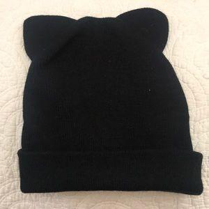 Zara Black Cat Ear beanie
